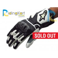 Alpinestars SP-2 Motorcycle Riding Gloves - Black & White