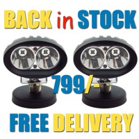 CREE USA Auxiliary Double LED Fog Light - 20w (Spot Light) Pack of 2