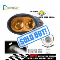 CREE USA Auxiliary Double LED Yellow Fog Light with 4D Lens - 20w | PACK OF 2