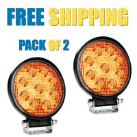 CREE USA AUXILIARY Off Road 6 LED Yellow FOG LIGHT Round Style for Bike, Car, SUV - 27w | Pack of 2