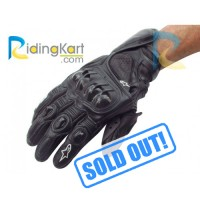Alpinestars S-1 Motorcycle Riding Gloves - Black - Size L