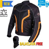 Biking Brotherhood Xplorer Motorcycle Riding Jacket - Available Colors with Grey - Orange