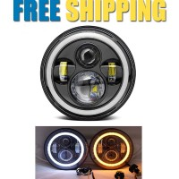 Harley Style 7 inch CREE USA LED Headlight with Angel Eye - 40 watt | 1 pc