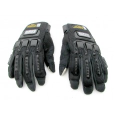MADBIKE TOUCH PHONE SENSITIVE KNUCKLE PROTECTION GLOVES - Black