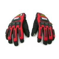 Madbike Touch Phone Sensitive Knuckle Protective Gloves- Red