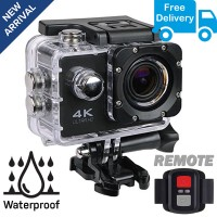 4K Action Sports Camera with Remote for Bikers and Youtubers