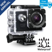 Full HD Waterproof Sports Action Camera for Motorsports | Adventure Sports - BLACK COLOR